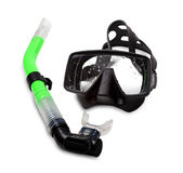 Diving mask and snorkel. On white background Stock Photography