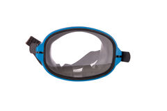 Diving mask and snorkel. Diving gear - diving goggles and snorkel,  on white Stock Photo