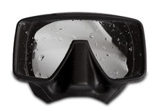 Diving mask with water drops Stock Photography