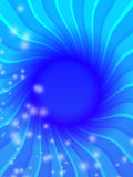 Diving into Mystery. A blue abstract background with space for text Royalty Free Stock Photo