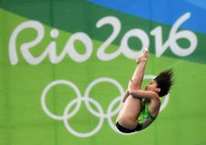 Diving in the Olympic Games 2016. Rio de Janeiro-Brazil , diving in the Olympic Games 2016 Royalty Free Stock Photo