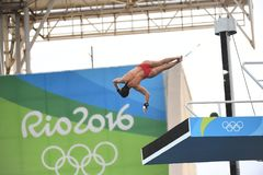 Diving in the Olympic Games 2016. Rio de Janeiro-Brazil , diving in the Olympic Games 2016 Royalty Free Stock Photography