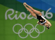 Diving in the Olympic Games 2016. Rio de Janeiro-Brazil ,England  team   diving in the Olympic Games 2016 Royalty Free Stock Photos