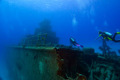 Diving On A Wreck Stock Image