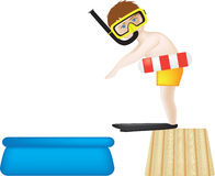 Diving into paddling pool Royalty Free Stock Photos