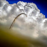 Diving Plane. Stunt pilot at the Red Bull air show Stock Images