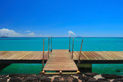 Diving Platform. A diving platform on mauritius island Royalty Free Stock Images