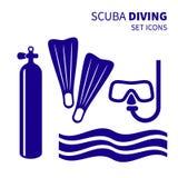 Diving set Royalty Free Stock Photos