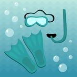 Diving set Stock Image