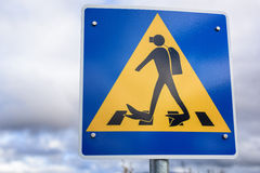 Diving sign Royalty Free Stock Photos