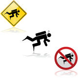 Diving signs Royalty Free Stock Photo