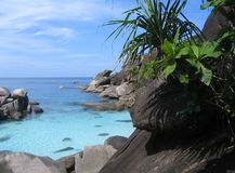 Diving site on the Similan Islands. Of Thailand Royalty Free Stock Photo