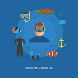 Diving and Snorkeling Concept Stock Photo