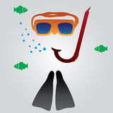 Diving and snorkeling equipment  Stock Image