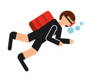 Diving sport isolated icon design. Illustration graphic stock photos