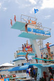 Diving Springboards and Platforms Stock Images