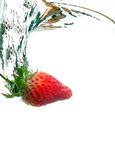 Diving Strawberry Stock Photos