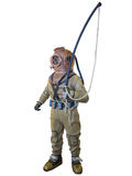 Diving suit equipment isolated over white Stock Images