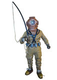 Diving suit equipment isolated over white Stock Photo