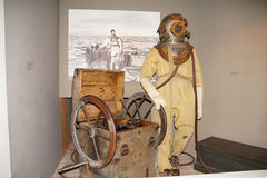 Diving suit from  1940s Royalty Free Stock Photography