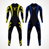 Diving suit. Diving wetsuit. yellow and blue color. vector format Royalty Free Stock Photo