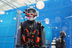 Diving suits at Russia Marine Industry Conference 2012 Stock Images