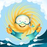 Diving sun Stock Photo