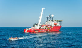 Diving support vessel Stock Image