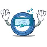 Diving Syscoin character cartoon style. Vector illustration Royalty Free Stock Photo