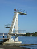 Diving tower. High diving tower by the sea. Oslofjorden, Norway stock photography