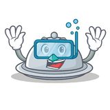 Diving tray character cartoon style Royalty Free Stock Photos