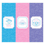 Diving vector label template royalty free illustration