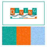 Diving vector linear design Royalty Free Stock Image