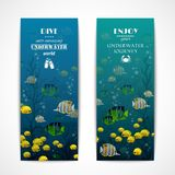 Diving vertical banners Royalty Free Stock Photography