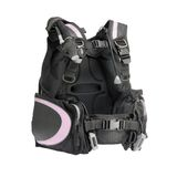 Diving vest. With all the connectors isolated on a white background Stock Images