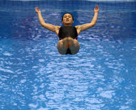 Diving women 01 Royalty Free Stock Image