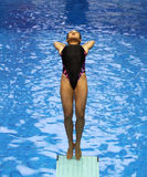 Diving women 02 Stock Images