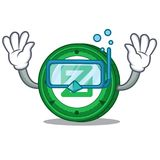 Diving Zcoin character cartoon style. Vector illustration Royalty Free Stock Photos