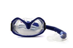 Divings mask. And scuba on the white background royalty free stock photo