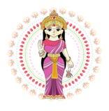 Divinidad india del hinduism del vector de dios de la diosa y del ?dolo divino Ganesha en sistema del ejemplo de la India de la r libre illustration