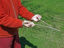 Divining rod Stock Images