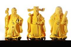 Divinità cinese Shou - Fu LU Shou Fotografie Stock