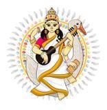 Divinità indiana di hinduism di vettore del dio illustrazione di stock