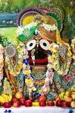 Divinità indiana Jagannath sull'altare Immagine Stock