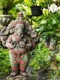 Divinité à tête de trois Ganesh Statue Photos libres de droits
