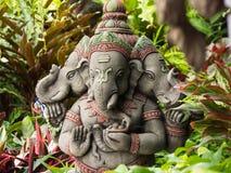 Divinité à tête de trois Ganesh Statue Photo stock