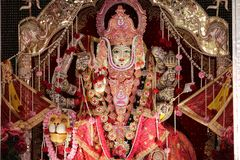 Divinité unique de Hindus, ornée avec complètement possible photographie stock libre de droits