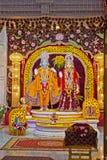 Divinités de Sita et de Rama Photo stock