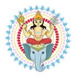 Divinit? indiana di hinduism di vettore del dio della dea e dell'idolo divino Ganesha nell'insieme dell'illustrazione dell'India  illustrazione vettoriale