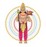 Divinit? indiana di hinduism di vettore del dio della dea e dell'idolo divino Ganesha nell'insieme dell'illustrazione dell'India  royalty illustrazione gratis
